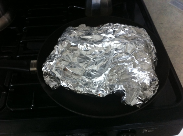 What the heck is that, anyway?  Looks like a blob of tinfoil... .